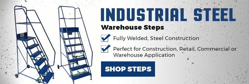 Stainless steel warehouse steps